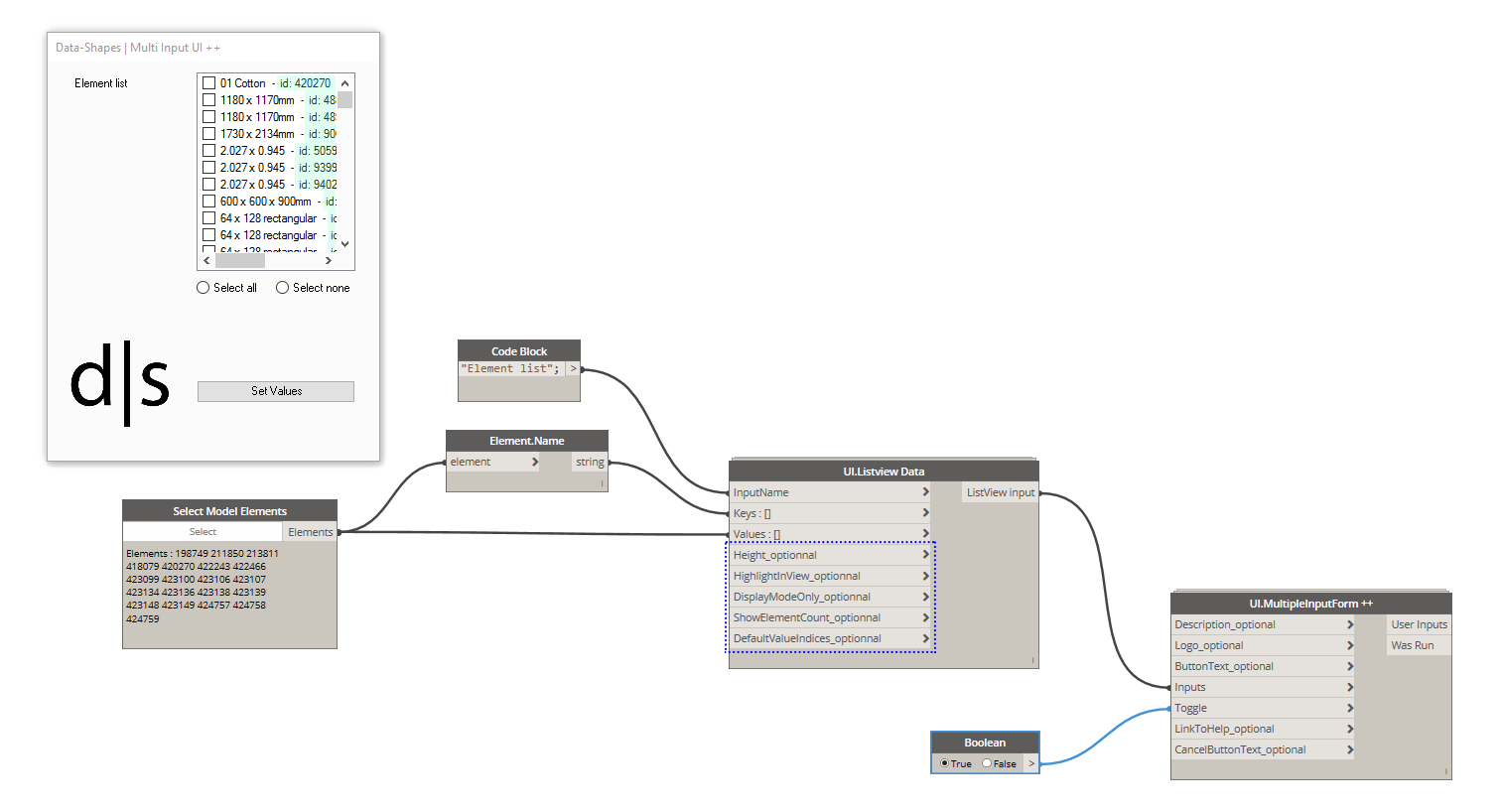 ListView input enhancements – data|shapes