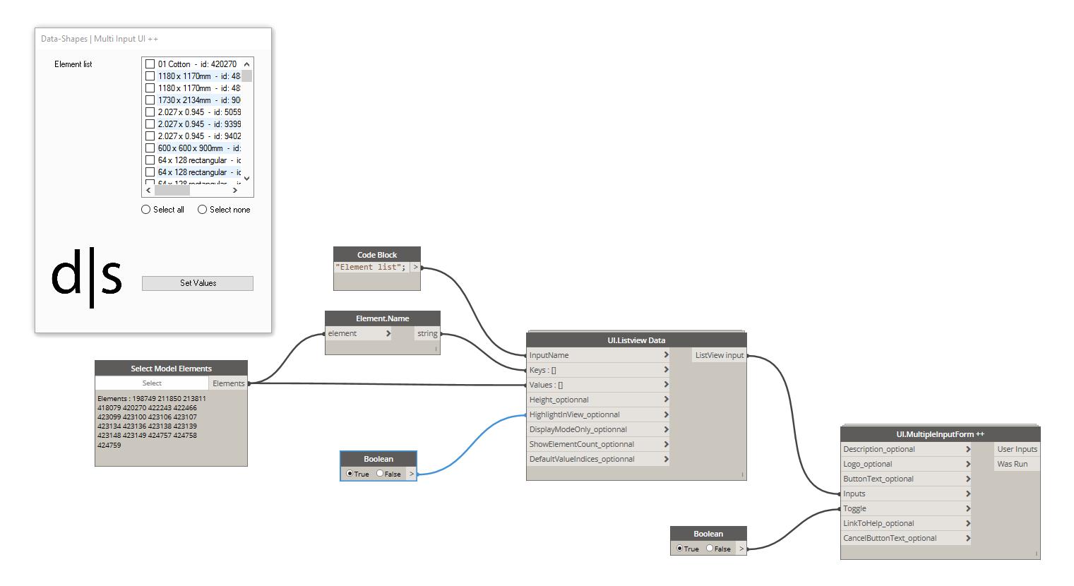 ListView input enhancements – data shapes